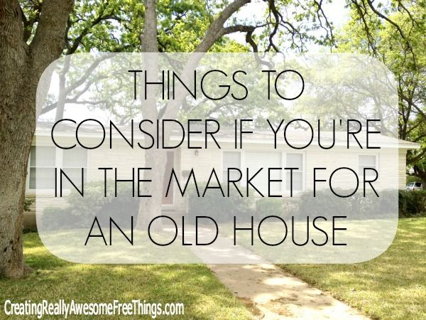 buying an older home