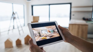 real estate: touring a house remotely